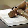 Gracious Saviour Lutheran Church, Detroit, Mich. | Amanda Porter reflects on a Bible passage during her adult women's Sunday school class.