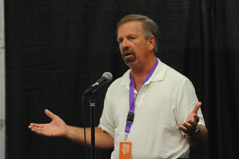 Women of the ELCA @ ELCA Youth Gathering | Detroit, Michigan, July 15-19 2015 | Mel Baggett, All Worthy of Love, spoke about how volunteers of his organization share outreach bags.