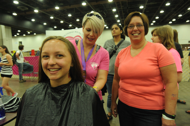 Women of the ELCA @ ELCA Youth Gathering | Detroit, Michigan, July 15-19 2015 | WELCA woman, Sarah Guy is getting her new look for a good cause. Sarah has been growing her hair for two years.
