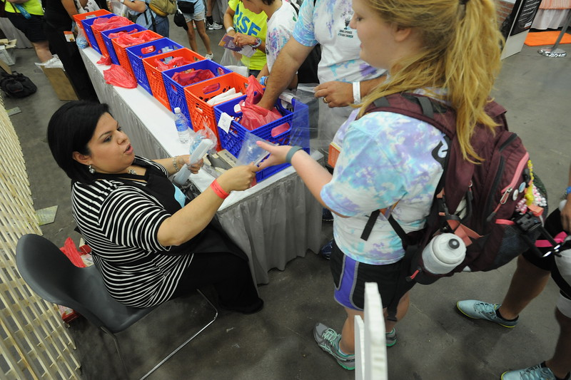 Women of the ELCA @ ELCA Youth Gathering | Detroit, Michigan, July 15-19 2015 | Youth were given bags to assemble hygiene items.