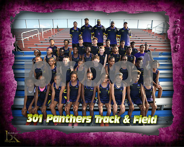 301 Panthers Track & Field Poster