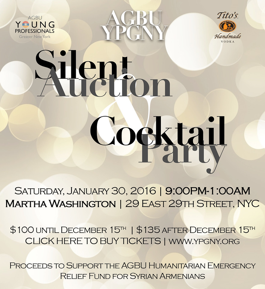AGBU YPGNY Silent Auction & Cocktail Party 2016