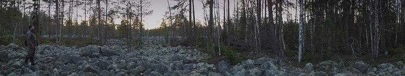 "Panorama experiment, ""Devil´s field"", Kälviä-Kelviå, Finland"