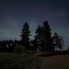 Northern lights, fields, Kälviä--Kelviå, Finland