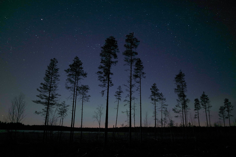 Starry night, Ullava, Finland