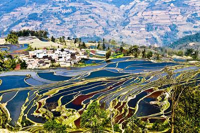 Dramatic landscape in YuanYang, Yunnan,China