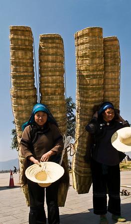 The basket ladies of Yuanyang.