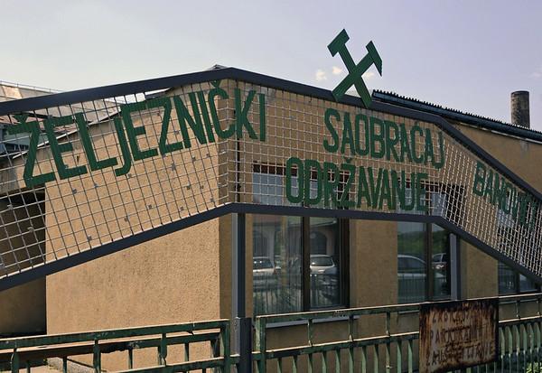 Welcome to Banovici narrow gauge railway works!  Bosnia-Hercegovina, Wed 11 June 2014