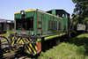 720-002, Banovici railway works, Bosnia-Hercegovina, Wed 11 June 2014.  Four-wheel diesel-hydraulic shunter converted, with 720-001, from one of two larger but unsuccessful locos supplied in 1987 by Maskina Industrija Nis (MIN).