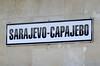 Sarajevo station, Bosnia-Hercegovina, Fri 13 June 2014 7.  The name is displayed in Latin and Cyrillic.
