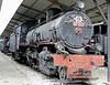 Yugoslav Rlys (JZ) 92-043, Pozega railway museum, Serbia, Mon 16 June 2014 1.  76cm gauge compound Mallet 2-6-6-0 built by Henschel (19472 or 19481 / 1922).  NB the missing chimney.