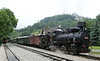 Jugoslav Rlys (JZ) 83-052, Mokra Gora, Serbia, Sun 15 June 2014 - 0901 2.  The 0-8-2 waits to leave with a charter over the 'Sargan 8' mountain railway to Sargan Vitasi.  It was built by Jung (3545 / 1923).  The tender carries the number 83-025.