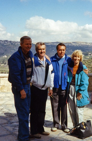 Lenihans with the priests Yugoslavia Dubronvik, Italy ,Holy Land and Egypt March 1-20th 1990