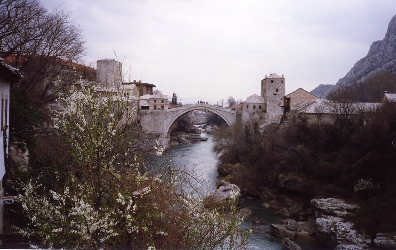Bridge at Mostar Yugoslavia Dubronvik, Italy ,Holy Land and Egypt March 1-20th 1990