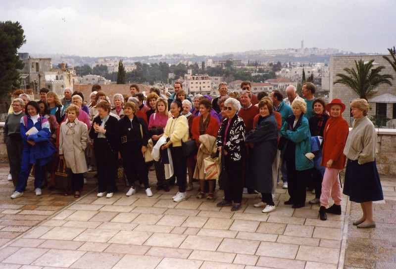 Our tour group Dubronvik, Italy ,Holy Land and Egypt March 1-20th 1990