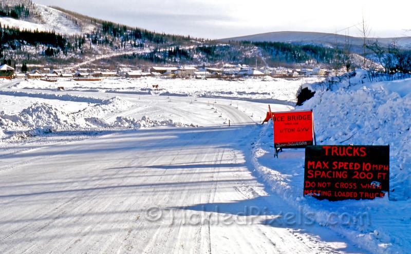 Ice Bridge over the Yukon River at Dawson City