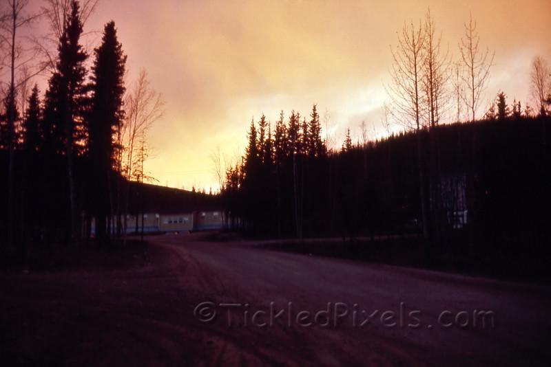 Fiery Sunset over Men's Staffhouse