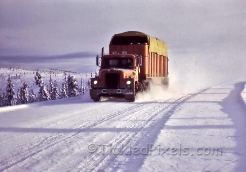 Cassiar Asbestos Truck on Top of the World Highway
