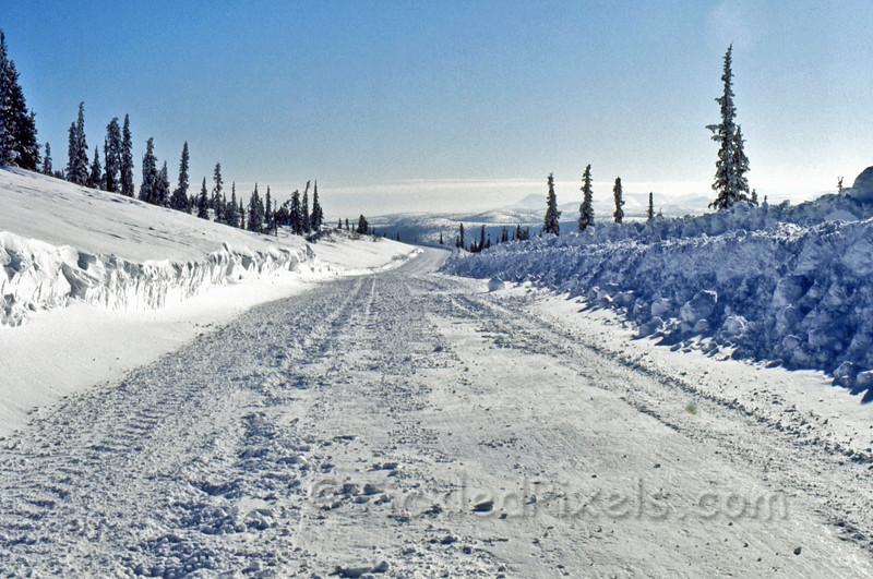 Winter Road into Clinton Creek, Yukon (1972)