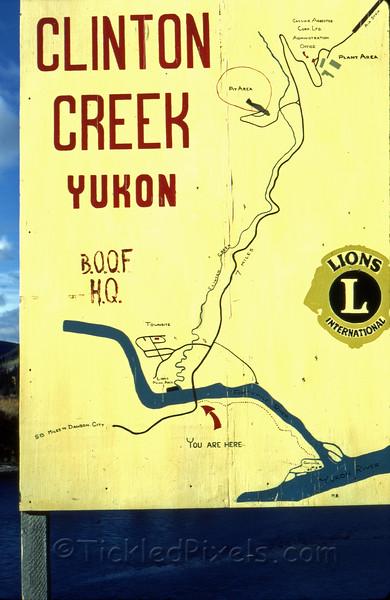Clinton Creek Map Sign