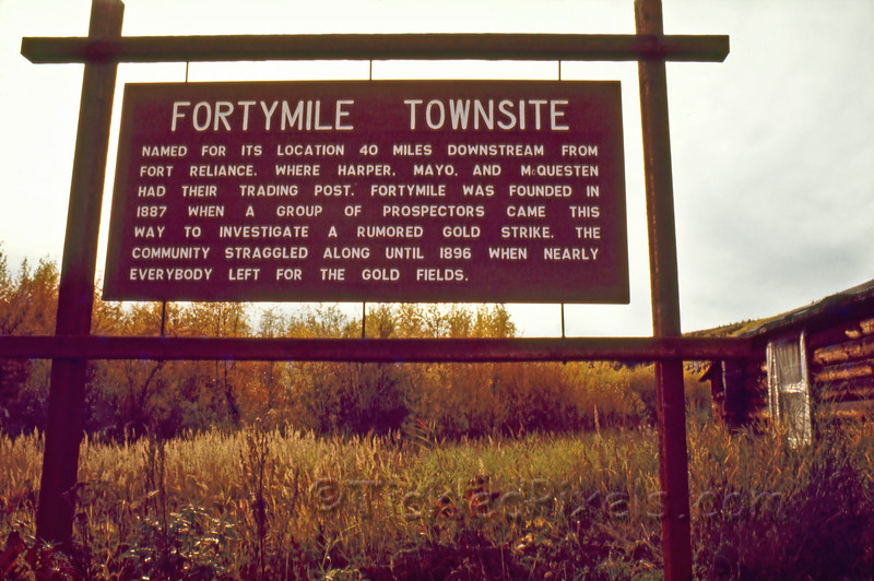 Fortymile Townsite Sign