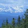 Looking back at the mountains of Kluane National Park.