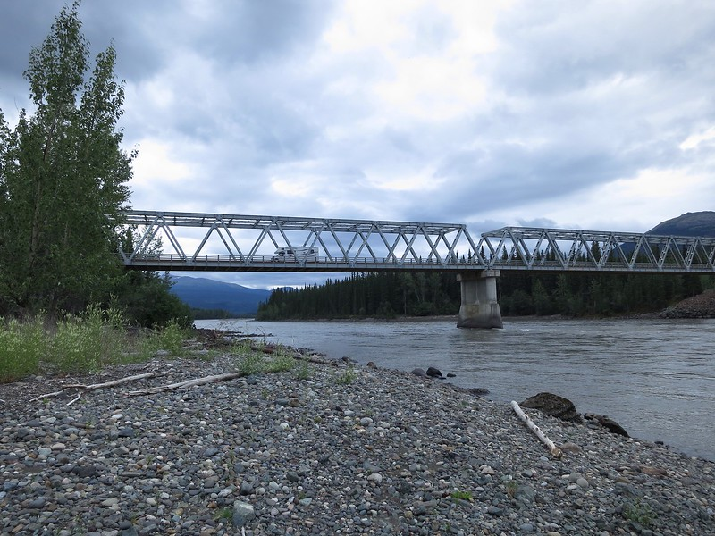 Bridge over the Stikine River. Half was up the Cassier.
