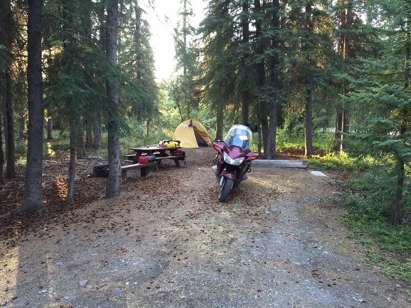 Camp at glen are Alaska