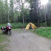 Camp just accross the Yukon River from Dawson City