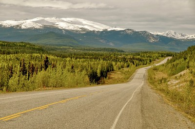 Alaska Hwy near Continental divide