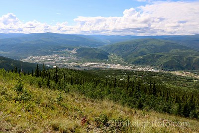 Dawson City from Midnight Dome Hill