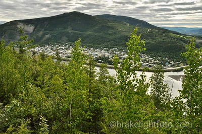 Dawson City from the Top of the World Hwy