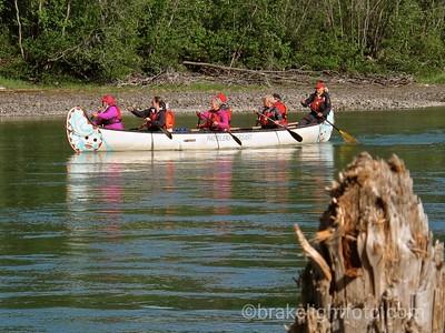 Voyageur Canoe on the Yukon River