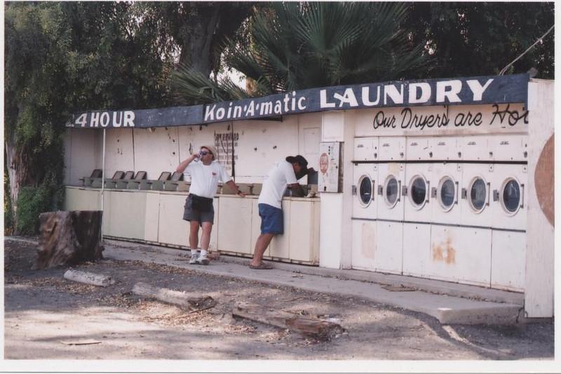outdoor laundromat