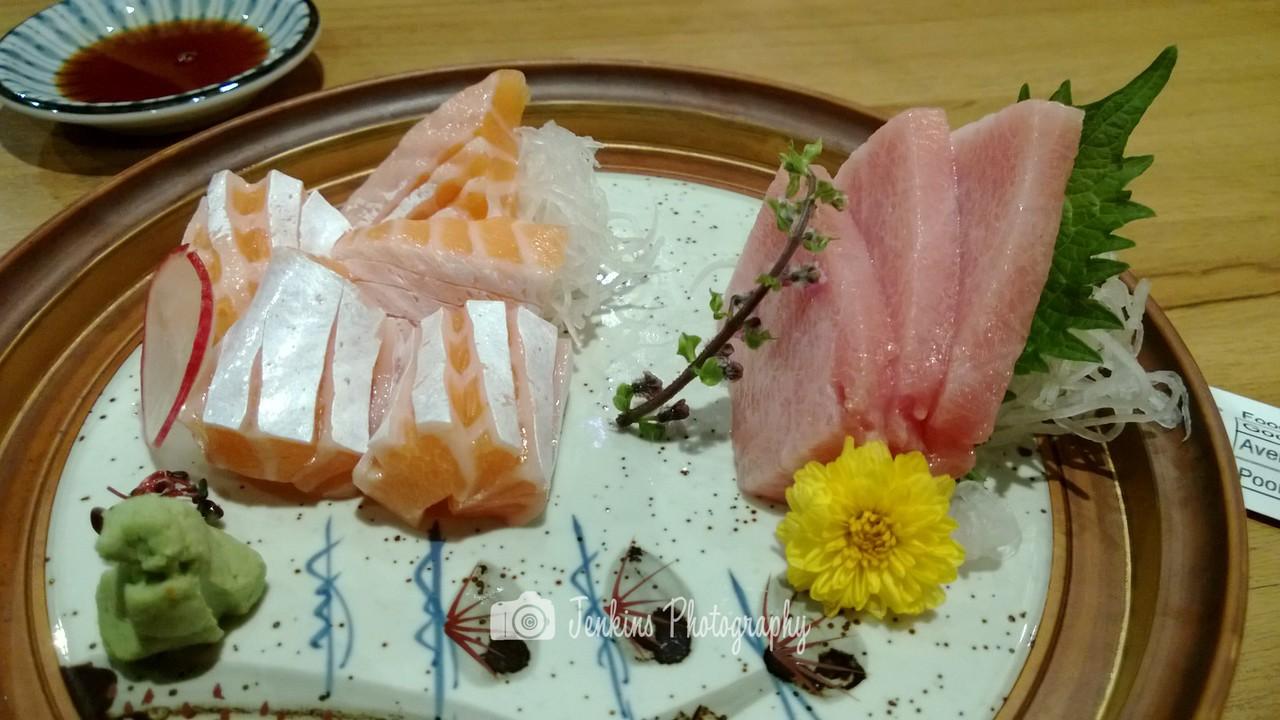 Otoro and Salmon Belly Sashimi -- Tampopo@Liang Court
