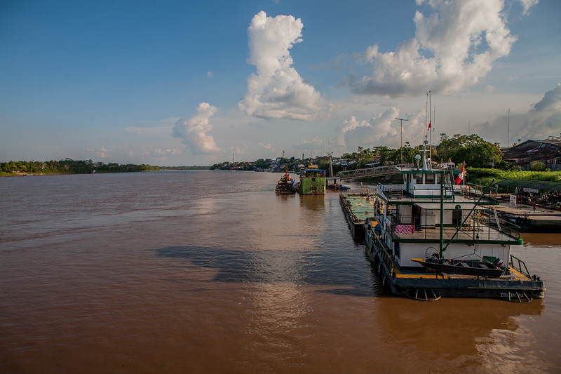 The office of the Yurimaguas port for entry into the river Amazon in Peru