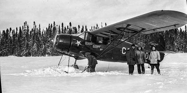 Norseman Mark 1, CF-AYO sur la rivière Eastmain en 1938