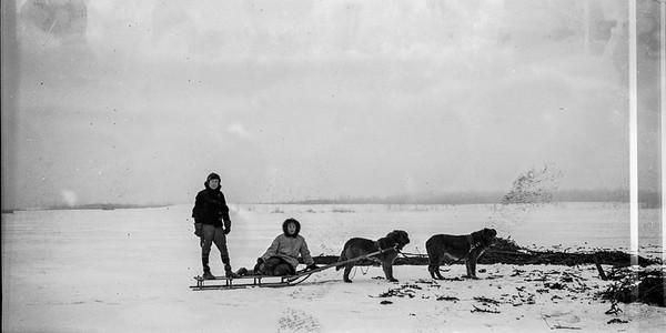 Thérère Bernier Départ pour un camp d'arpentage en hiver 1937