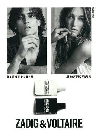 ZADIG & VOLTAIRE This Is Her! - This Is Him! 2016 France 'Les nouveaux parfums'