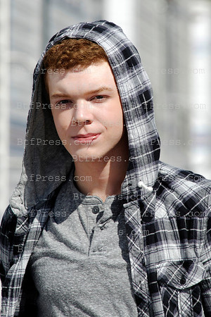 "Cameron Monaghan at the base camp during the set of the TV series "" Shameless "" in Los Angeles,California."