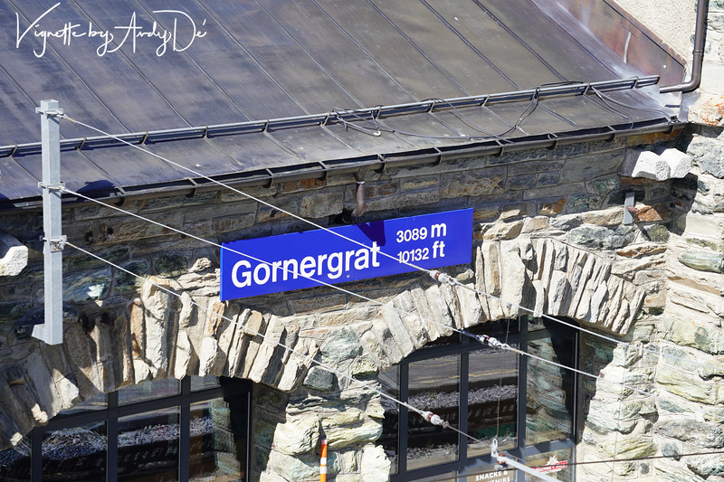 The Gornergrat Railway Station at 10,132 feet above sea level - a feat of Swiss Engineering acumen!