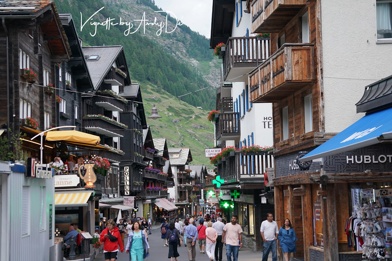 Zermatt is a car-free zone, has preserved its original character and offers nearly unlimited possibilities as far as excursions are concerned. This is the main street offering some fantastic shopping opportunities with the verdant Alpine mountains as backdrop, and attracts visitors from all over the Globe!