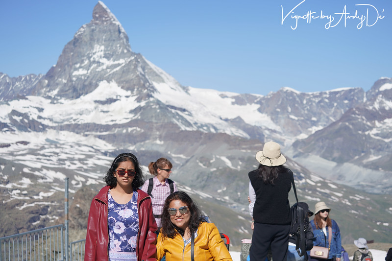 The customary portrait with the Matterhorn as the magnificent backdrop!