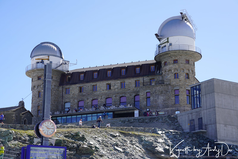 The Matterhorn observatory overlooking the Gonergrat Rail Station - imposing and formidable!