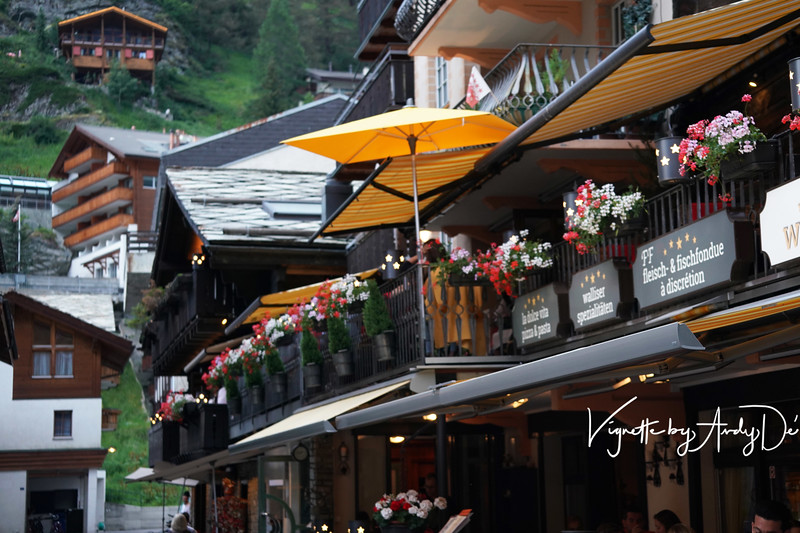 Zermatt boasts of some incredible Swiss Chalet architecture which lends to its unique personality and character, as personified by this 5 star hotel facade, which will have you stop in your tracks to take a good look, and admire the beauty!