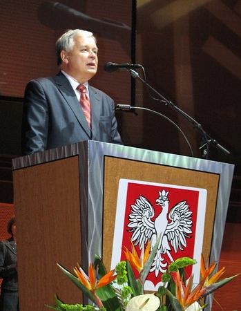 Prezydent L. Kaczynski w Chicago