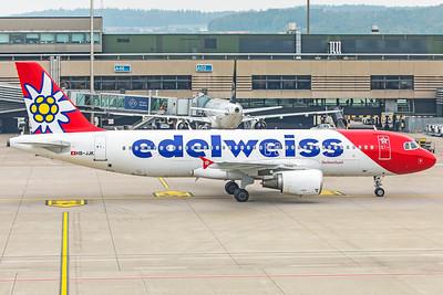 Edelweiss Air Airbus A320-214 HB-JJK 10-9-18