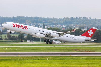 Swiss Airbus A340-313 HB-JMC 10-9-18