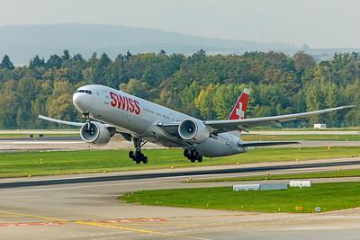 Swiss Boeing 777-3DE(ER) HB-JNF 10-9-18