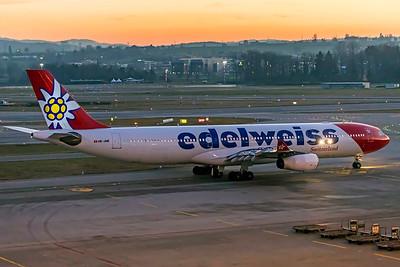 Edelweiss Air Airbus A340-313 HB-JME 2-14-19